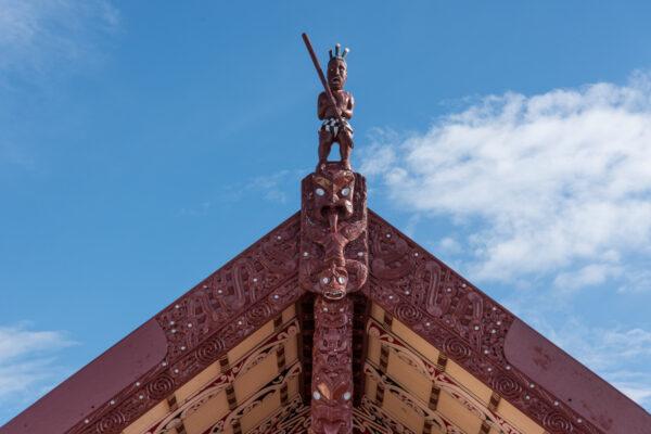 Village maori en Nouvelle-Zélande