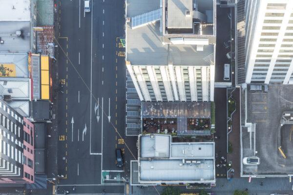 Vue depuis la Sky Tower d'Auckland en NZ