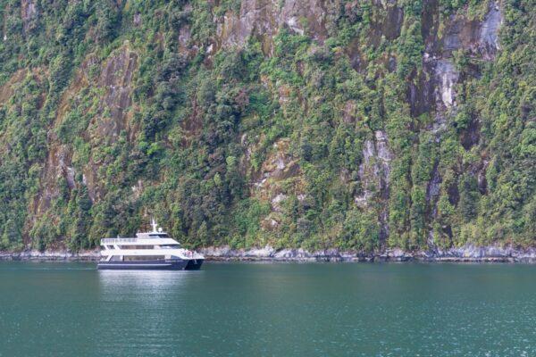 Bateau à Milford Sound