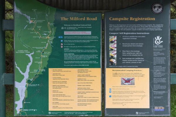 Camping du DOC sur la route vers Milford Sound
