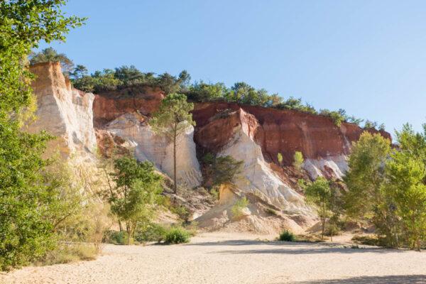 Colorado provençal dans le parc naturel régional du Luberon
