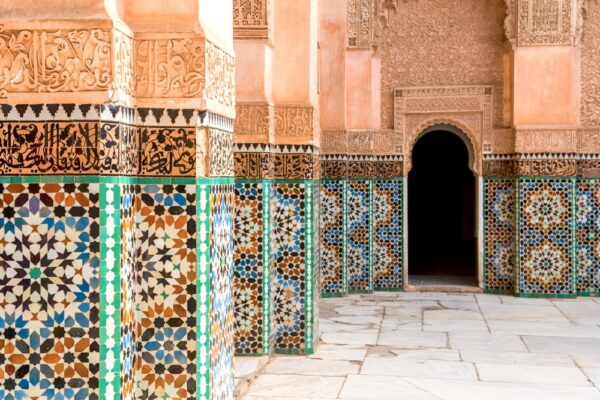 Médersa Ben Youssef à Marrakesh au Maroc