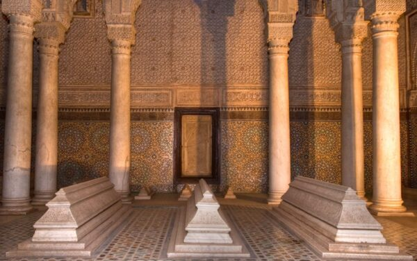 Tombeaux saadiens à Marrakech au Maroc