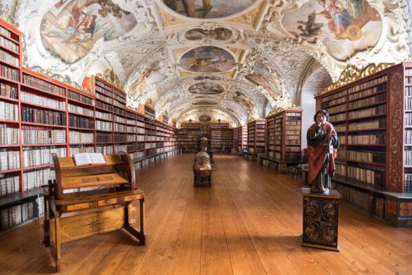 Bibliothèqe de Strahov à Prague