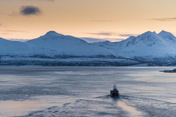Coucher de soleil à Tromso