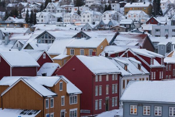 Maisons colorées à Tromso en Norvège