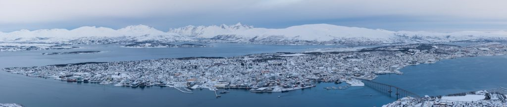 Panorama sur Tromso en Norvège