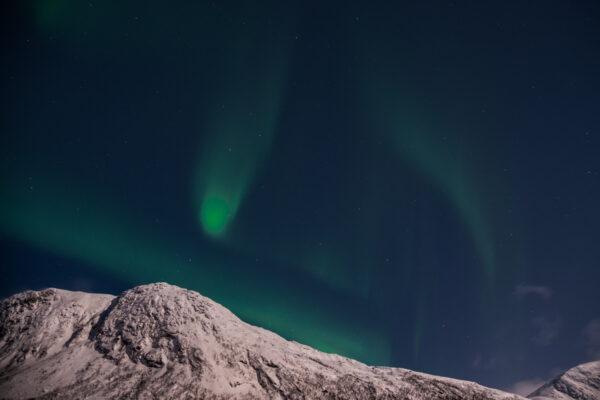 Période des aurores boréales en Norvège