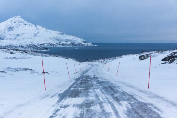 Route vers Tromvik depuis Tromso