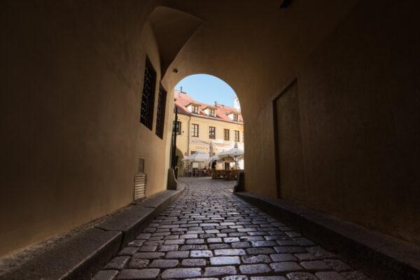 Ruelle dans la vieille ville de Prague