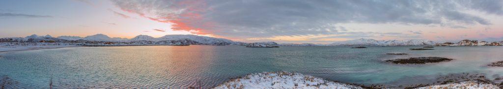 Sommaroy en Norvège, proche de Tromso