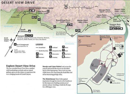 Plan de la Desert View Drive