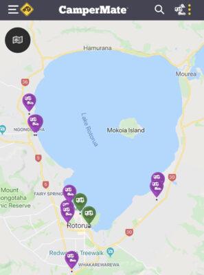Dormir à Rotorua dans un camping