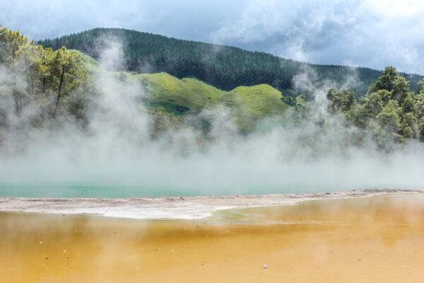 Géothermie à Rotorua en Nouvelle-Zélande