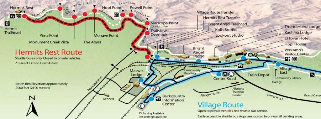 Plan de l'Hermit Road