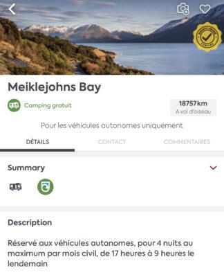 Informations sur les campings de Nouvelle-Zélande