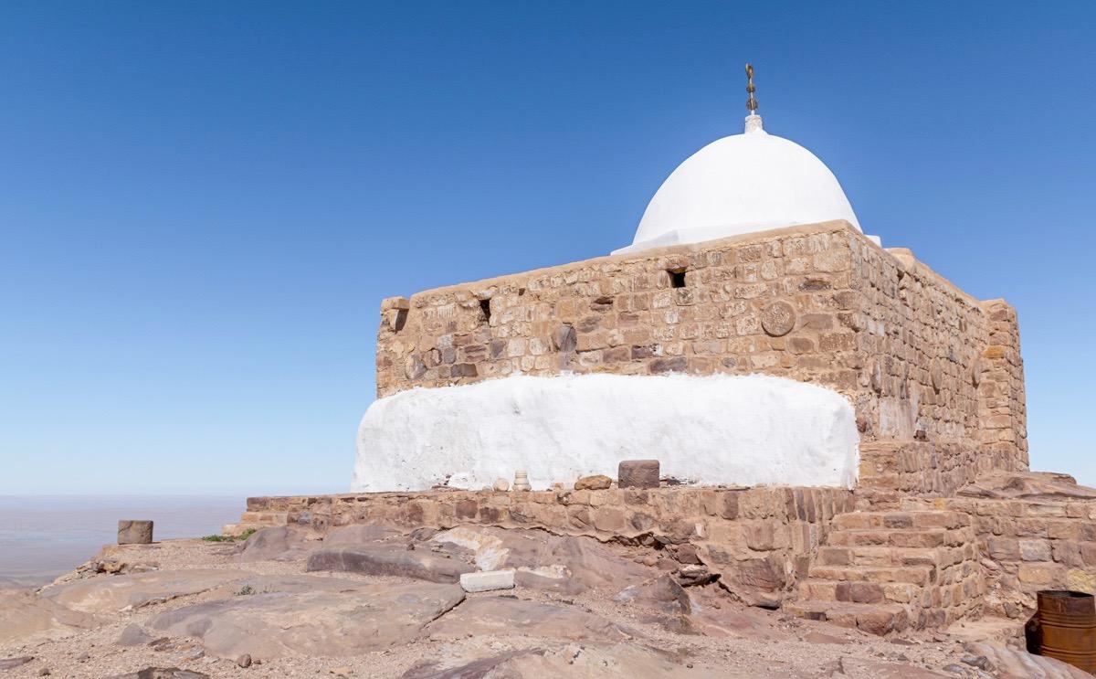 Jebel Haroun et mausolée d'Aaron en Jordanie