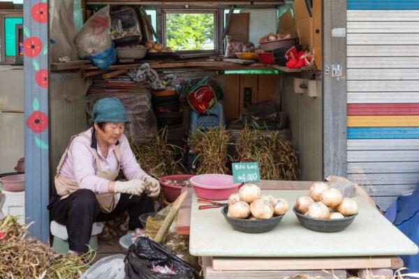 Nambu market à Jeonju