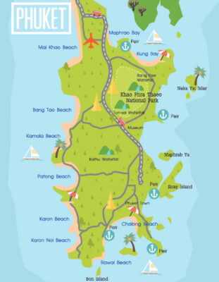 Où dormir à Phuket : carte