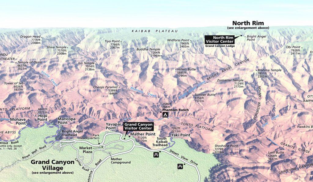Où dormir au Grand Canyon : rive nord / rive sud