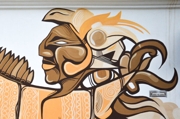 Street art à Tulum au Mexique