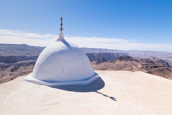Dôme sur le toit du mausolée où repose la tombe d'Haroun