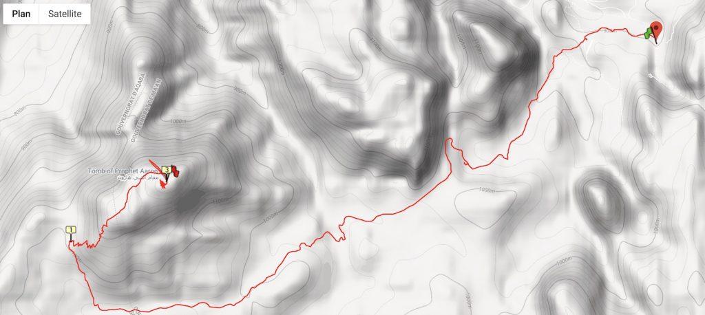 Tracé GPS de l'ascension du mont Aaron