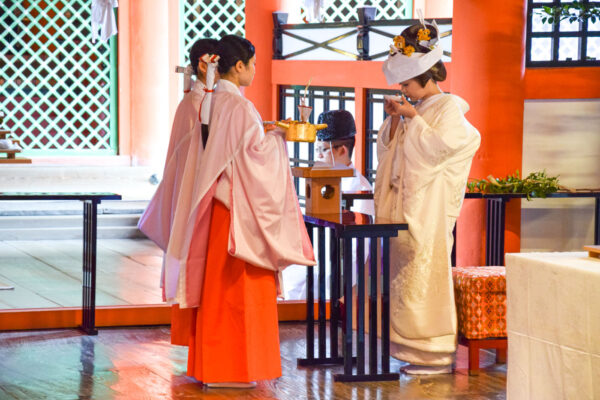 Mariage shinto à Miyajima