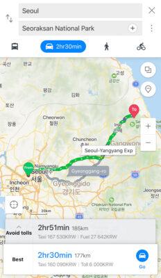 Naver Map : GPS pour la Corée du Sud
