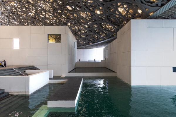 Partie extérieure du musée du Louvre Abu Dhabi