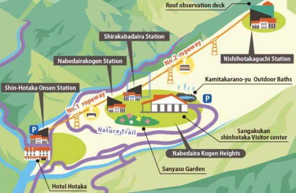 Téléphérique Shin-Hotaka depuis Takayama