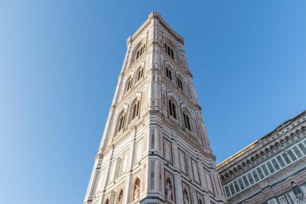 Campanile de Giotto à Florence sur la Piazza del Duomo