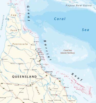 Carte de la Grande Barrière de Corail