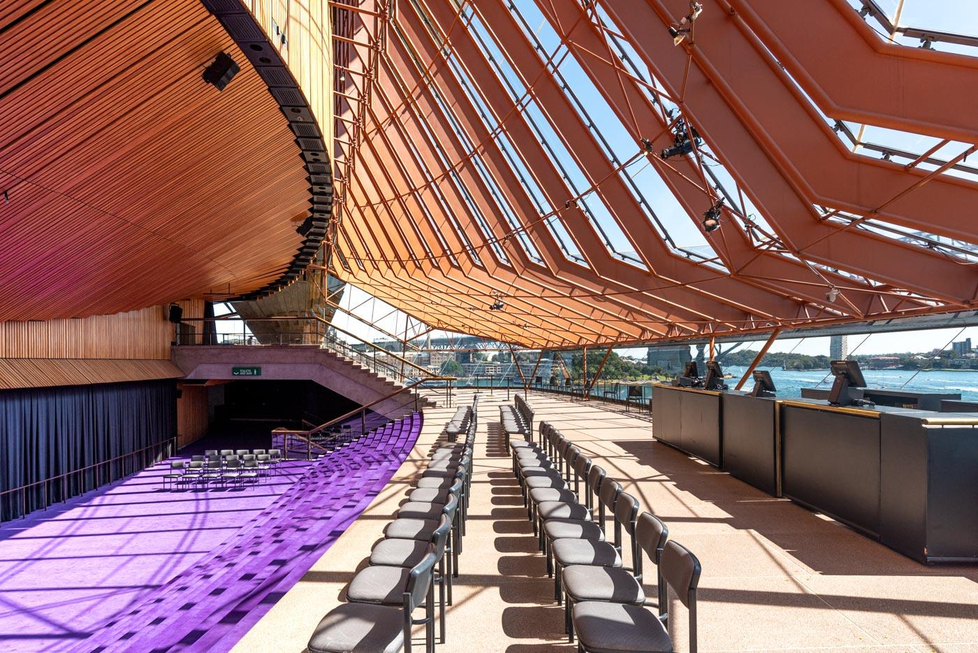 Opéra de Sydney intérieur