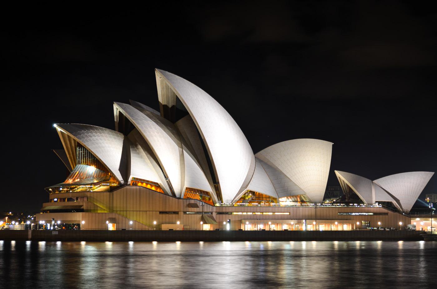 Opéra de Sydney de nuit