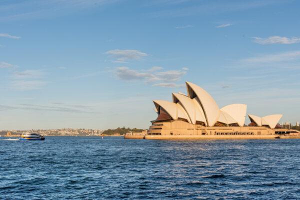 Vue sur la baie depuis l'opéra de Sydney