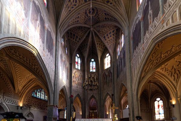 Trompe-l'oeil dans la cathédrale de Chambéry