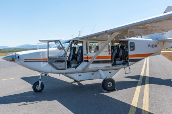 Vol en avion au dessus de la barrière de corail