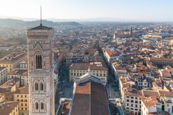 Vue depuis le sommet de la coupole du Duomo de Florence