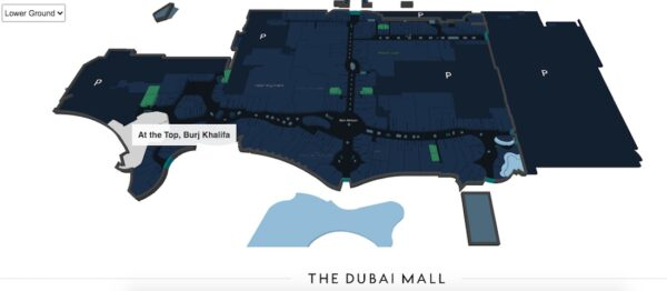 Plan pour l'entrée de la Burj Khalifa