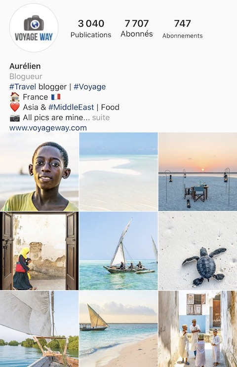 Blog Voyage Way sur Instagram