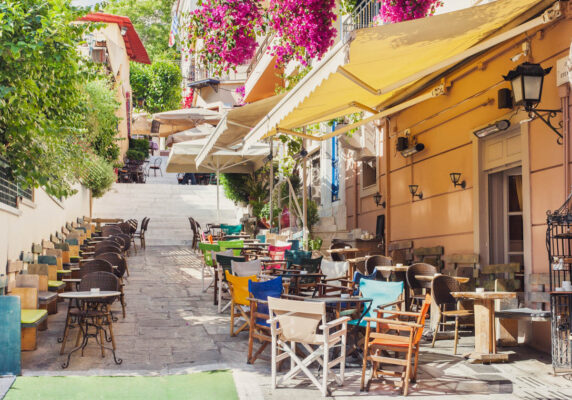 Quartier Plaka au coeur d'Athènes