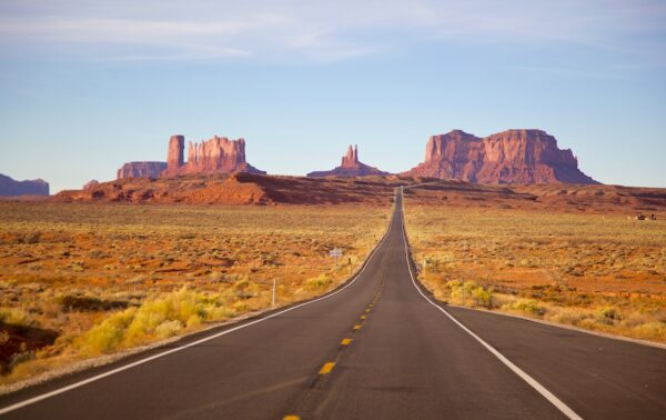 Route proche de Monument Valley