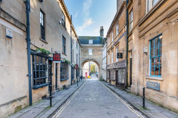 Ruelle dans le centre historique de Bath