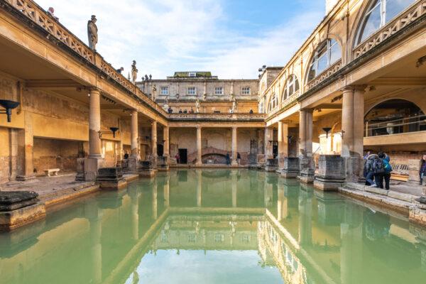 Thermes romain de Bath en Angleterre