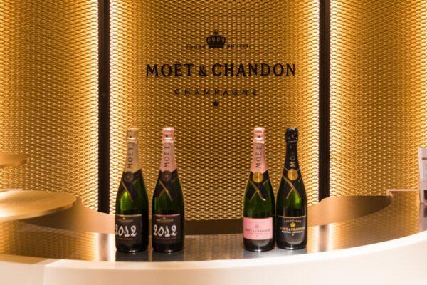Dégustation de champagne Moët et Chandon