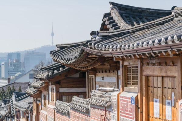 Hanok dans le quartier de Bukchon