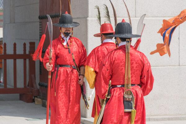 Relève de la garde à Séoul