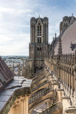 Toit de la cathédrale de Reims