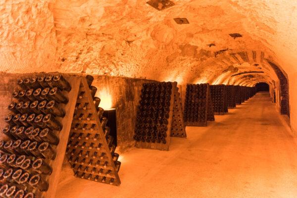 Visite d'une cave de Champagne à Reims